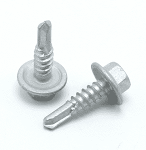 Ruspert coating hex flange self drilling screw with EPDM rubber washer