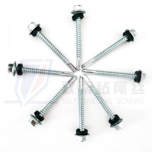high quality hex flange head SDS with pvc washer