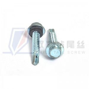 Hex head roofing screws