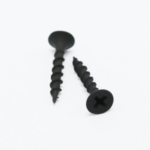 Coarse thread black phosphating drywall screws