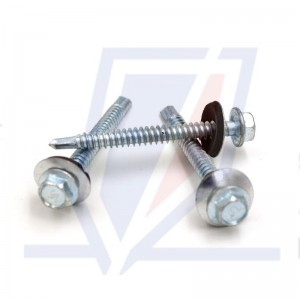 high quality hex head self drilling screws with epdm bonded washer