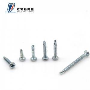 China Gold Supplier for Self Drilling Pan Head Screws - Pan head self drilling screw – Shuangzi