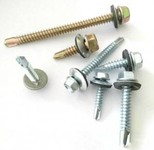 White zinc self drilling screw