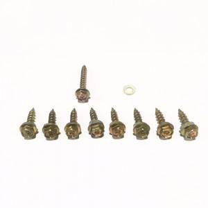 Hex head wood screws with pvc washer