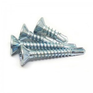 China manufacturer of Din7504p csk head self drilling screws