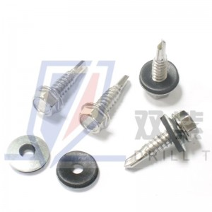 Hex head self drilling screws with epdm bonded washer