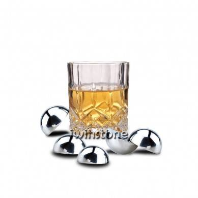 Hotselling Circle Stainless Steel Whiskey Stones with Engraved Logo