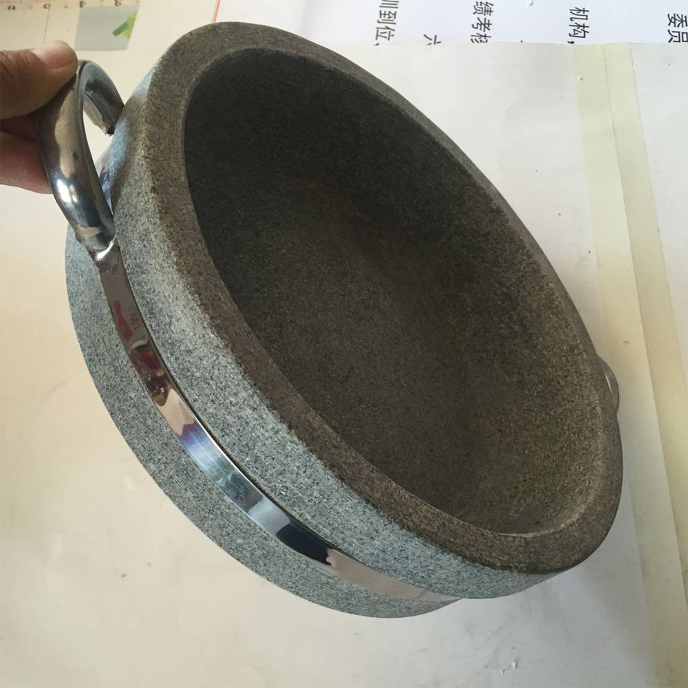 Stone Bowl of Korean Rice Mixing Stone Bowl Round Deep and Shallow Barbecue Plate Barbecue Stone Plate Featured Image