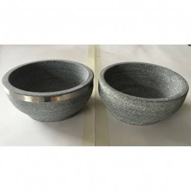 Production of Stone Bowl Mixing Pot Barbecue Stone Plate Barbecue Furnace
