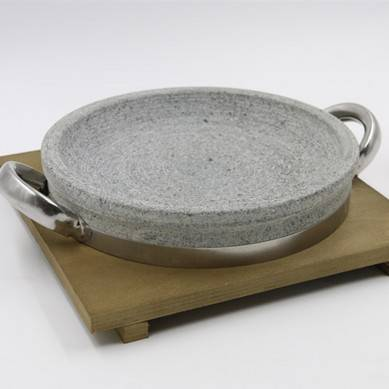 Korean Stone Roast Pan Stone Pot and Vegetable Mix Rice Stone Bowl Stone Pot Processing Barbecue Stone Plate 22-32 cm