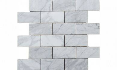 "Hot Selling Polished Italian 3""*6"" Brick Natural Carrara White Marble"