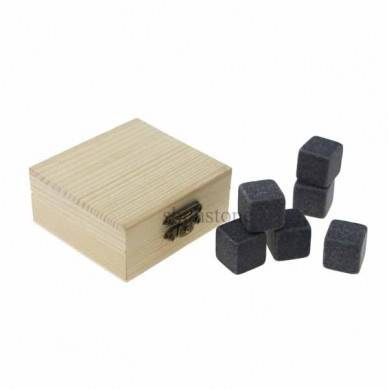Wholesale 9 pcs of Whiskey Stones Reusable Ice Cube Cheap Whiskey Gift kit