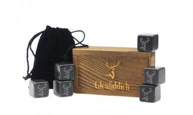 Creative Customized Gifts Box Black Basalt Rock 2cm for Cooling Whiskey Wine Chilling Drinking Stones