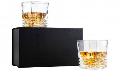 Large Volume Glass Bottle for Liquor Wine Tumbler Gift Set Liquid Crystal Whiskey Glasses in Gift Box for Home Party Use