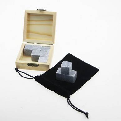 High Quality Grey Gift Set 9 Pcs Reusable Whiskey Stone,Ice Whisky Rock Stone,Ice Cube Whiskey Stone Gift Set Stone gift