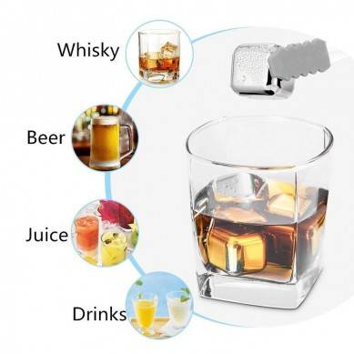Whiskey Steel Ice Cubes,Set of 8 Stainless Steel Reusable Ice Cubes Chilling Stones with Tongs for Whiskey Wine Stones Chilling Rocks Keep Your Drink Cold Longer Whiskey Gifts