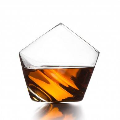 Clear Whiskey Glasses, Set of 2 in Gift Box