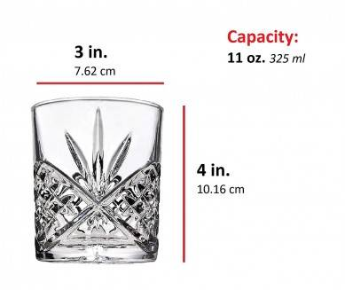 4-Piece Whiskey & Liquor Glass Set-Exquisite Cocktail Glasses For Bourbon, Scotch, Alcohol, Etc.