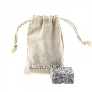 Natural chilling Stone Good Quality Reusable Ice cube with cotton