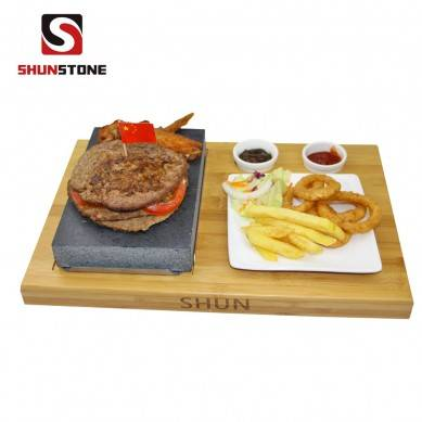 6 Pieces Set Steak Stone Set ,BBQ Stone Cookware Set Basalt Steak Grill Plate Hot Rock Cooking Stone Lava Stone For Cooking