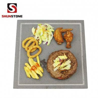 1x Board Sharing Platter, Extra Small Lava Square Baking Pizza Stone
