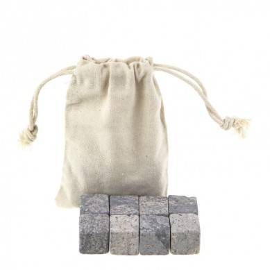 Eco-Friendly Feature Whiskey Ice Cube Stone with cotton bag