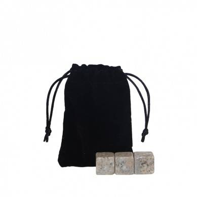 Factory price G682 Whiskey Stones with Black Velvet bag