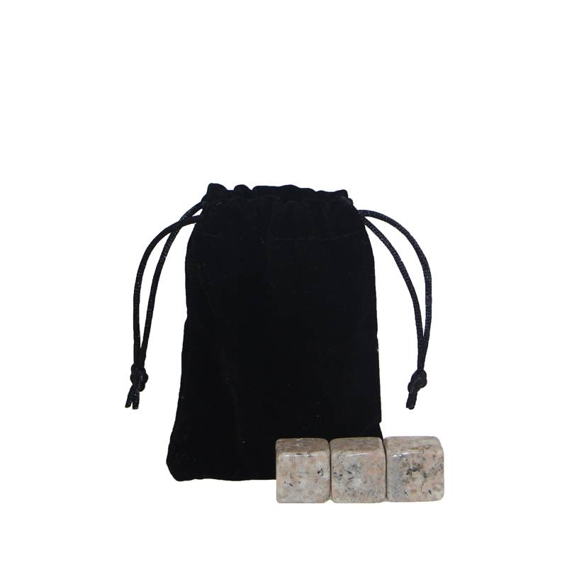 Factory price G682 Whiskey Stones with Black Velvet bag Featured Image