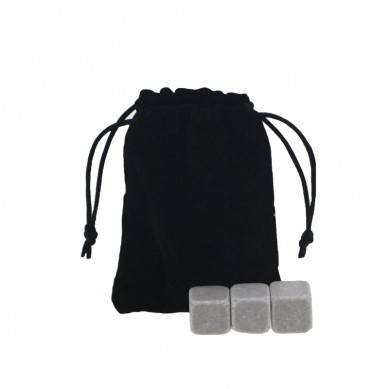 Cheap Natural Whiskey Stones set with Black Velvet bag