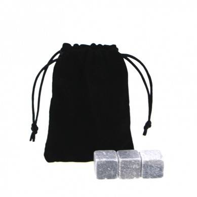 personalized high quality and low cost Chilling Stones set with Black Velvet bag