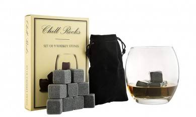 Premium 9pcs of  Natural Whiskey Stones 2x2x2cm Soapstone in Customized Paper Box