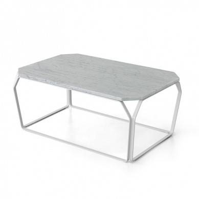 Modern style marble coffee tables with metal legs