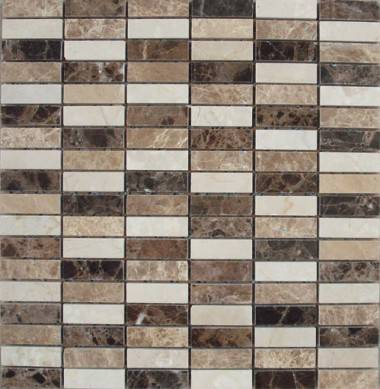 prefab marble limestone mosaic stone ,china golden limestone mosaic tile for wall decoration