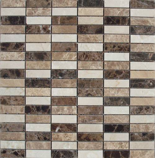 prefab marble limestone mosaic stone ,china golden limestone mosaic tile for wall decoration Featured Image