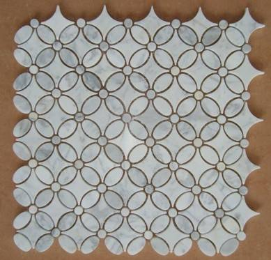 3D white marble mosaic Factory Providing Directly