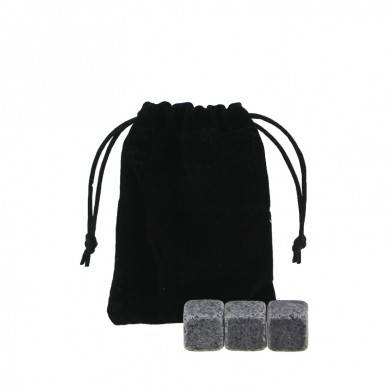 Wholesale G654 Whiskey Stones with Black Velvet bag