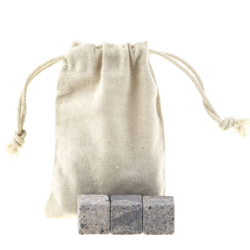 Eco-Friendly Feature Whiskey Ice Cube Stone with cotton bag Featured Image