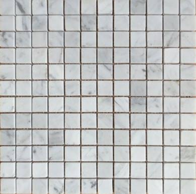 Cheapest Carrara White Marble mosaic tile for black splash walls Square marble mosaic tile