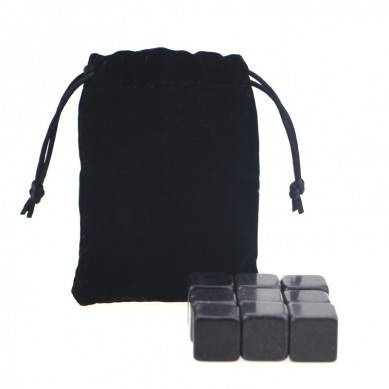 Hot selling High quality Chilling Stones set with Black Velvet bag