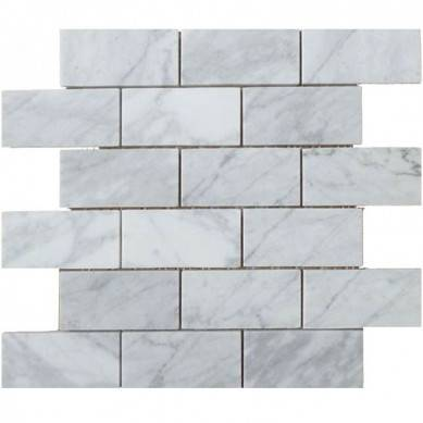 Carrara White Italian Carrera Marble Daisy Field Flower Water Jet Mosaic Tile Honed 3d shaped marble mosaic tiles