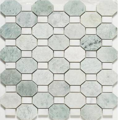 Low cost and high quality Marble Mosaic Carrara Marble Polished Mosaic Tiles for Backsplash ,Marble bathroom floor tiles