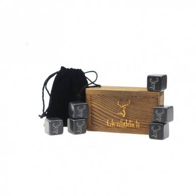 Wholesale 6 pcs of polish black Whiskey Stones with Color Wooden Box and Velvet bag/ High Quality Drink Chilling Ice Cube