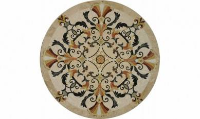 Factory Directly Waterjet  Round Marble Floor Medallions Patterns
