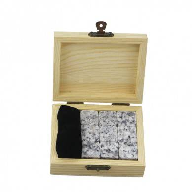 9 pcs of Bar accessories men gift set/603 whiskey stones for party with velvet bag