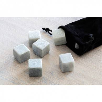 High quantity Whisky Ice Rocks chilling stone 9 pcs of whiskey Stones with velvet bag in paper box