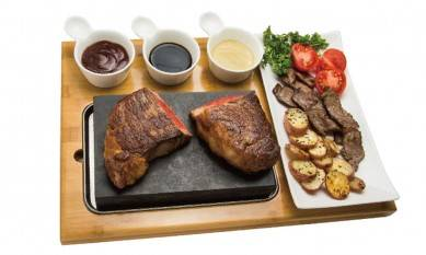7pcs set Lava Stone Cooking set, Steak Stones, Kitchen oven BBQ serve grill baking stone