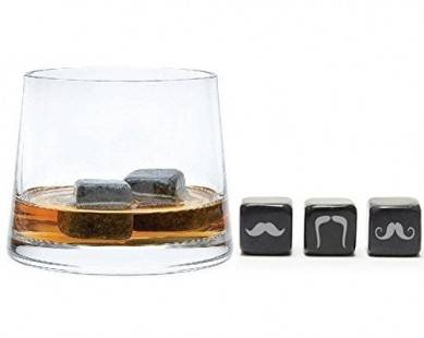 Personalized Whisky Stones Mustaches – Soapstone Beverage Cubes with Laser Logo