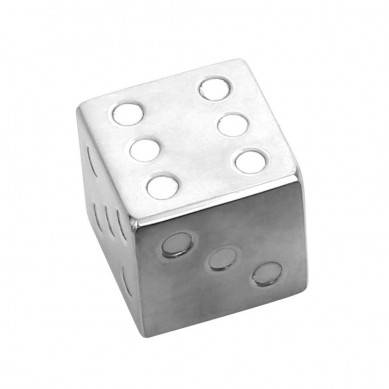 Dice-Shaped Stainless Steel Ice Cube Customized Packaging Wine Accessories