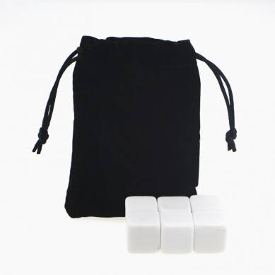 Personalized gifts high quality and low cost whiskey Stones set with Black Velvet bag