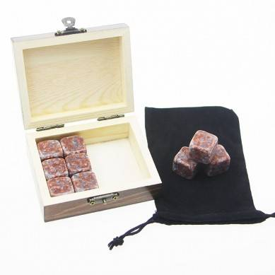 Wholesale Business Gift 9 pcs of Whiskey Stones Whiskey Chilling Rock Business Promotional Gift Professional novelty whiskey stones